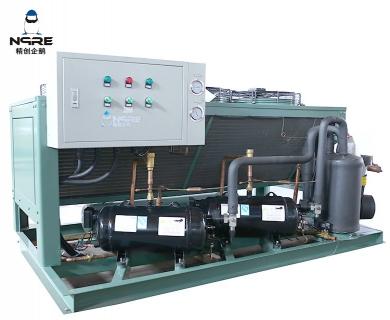 NJJZF080-OD两并联敞开式低温风冷涡旋冷凝机组(8HP*2两并联)